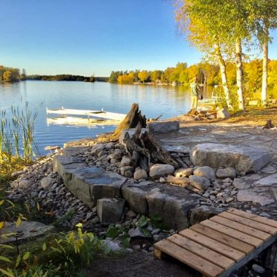 Lakeshore Naturalized Landscapes with Limestone