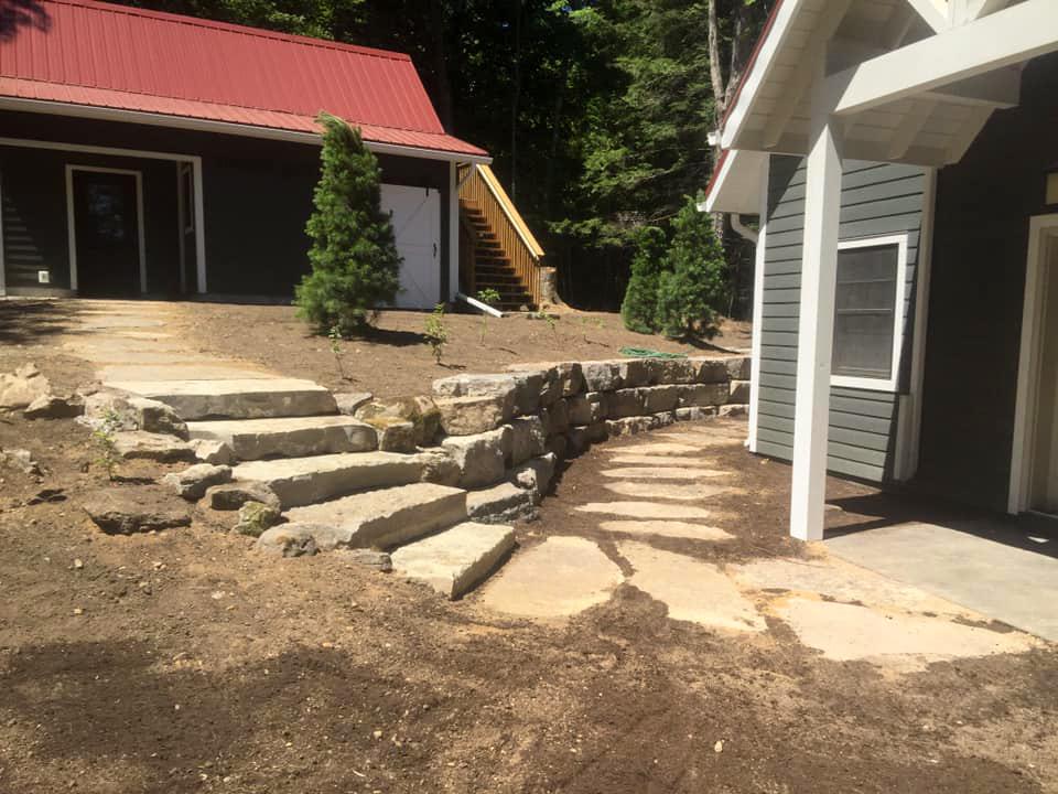 Armour Stone Retaining Walls & Steps